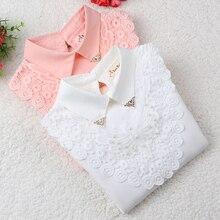 Блузка для девочек коллекция года, осенняя одежда для маленьких девочек одежда для детей школьная Блуза для девочек хлопковая Детская рубашка Блузки, детская одежда для детей возрастом от 3 до 12 лет