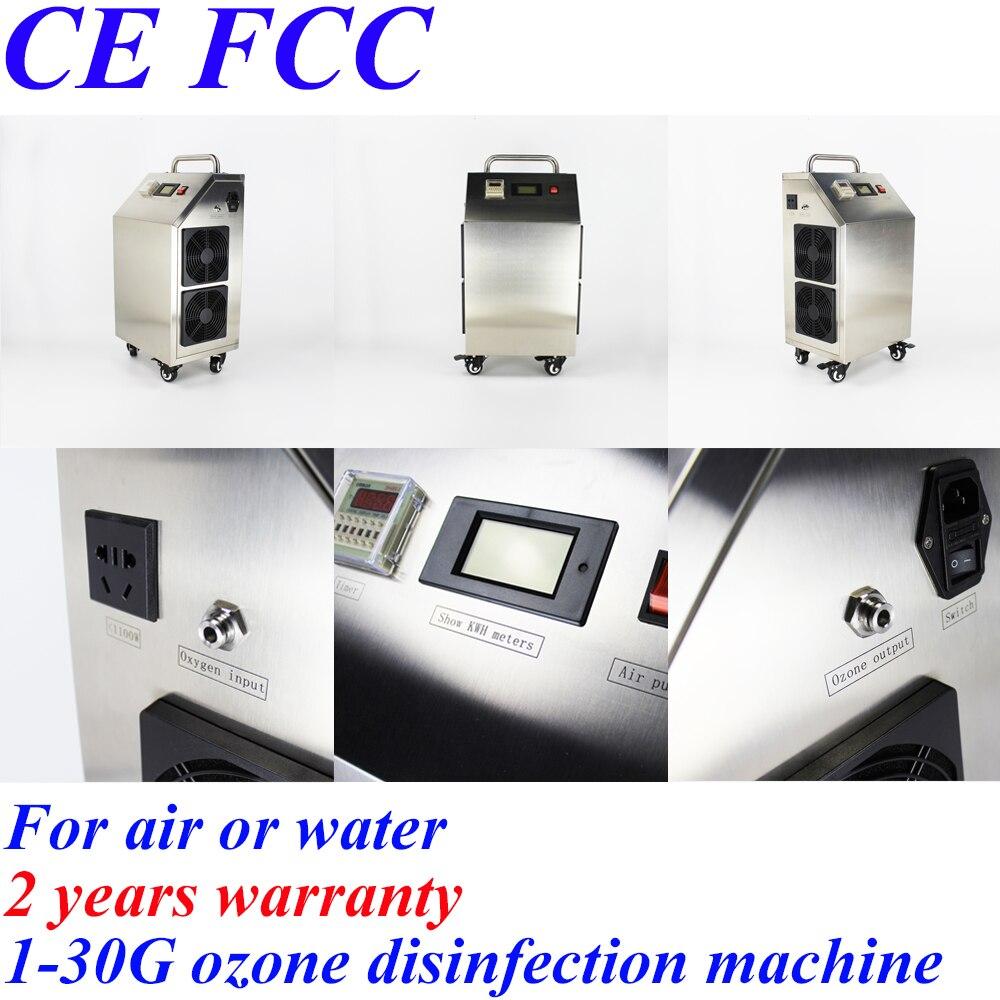 À Hong Kong Taiwan Pinuslongaeva 30 g/h mobile coque en acier inoxydable d'ozone machine d'ozone d'alimentation machine ozoneur