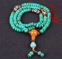 Optimization of turquoise 108 beads on the hand of natural crystal stone AAA Gemstone Bracelet degaussing optimization
