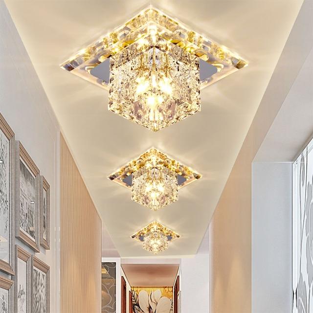Fahrer Kristall Led-strahler Hause Beleuchtung Wohnzimmer Led-strahler 5  Watt 110 V-220 V Einbauleuchte Lampe LED-Downlight Lampe