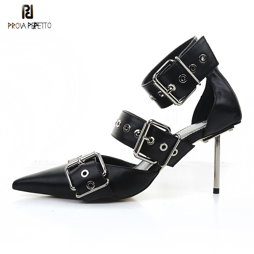 2019 T-show Stage Runway Sandals Party Dress Shoes Women Buckled Strap High Heels Pointed Toe Punk Sandals Gladiator Heels Shoes2019 T-show Stage Runway Sandals Party Dress Shoes Women Buckled Strap High Heels Pointed Toe Punk Sandals Gladiator Heels Shoes