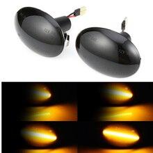 2 sztuk płynącej po stronie Repeater lampa dynamiczne światła obrysowe LED światło zmieni kolor na wskaźnik sygnału dla BMW MINI Cooper R55 R56 R57 R58 R59