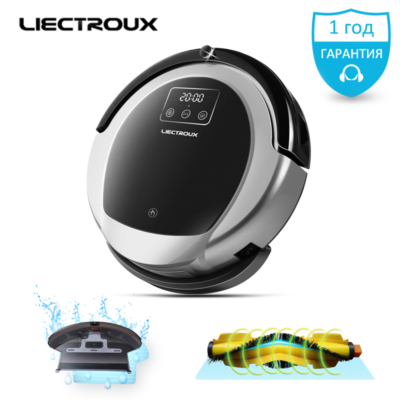 LIECTROUX Robotic Vacuum Cleaner B6009 2D Map & Gyroscope Navigation,with Memory,suction 3000 pa,Virtual Blocker,UV Lamp,Wet Mop short uv lamp of wp601 accessories of vacuum cleaner