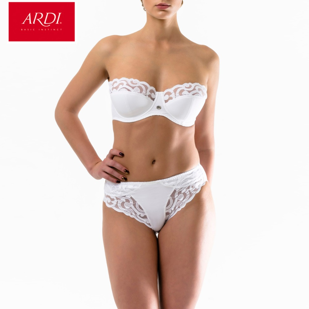ARDI New Female Bra Brief Set Balconette Demi Soft Cup Large Size Big Breast Full Figuer