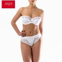 ARDI New Female Bra Brief Set Balconette Demi Soft Cup Large Size Big Breast Full Figuer