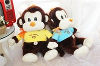 65 cm lovely monkey plush toy beautiful cloth money doll gift w4968