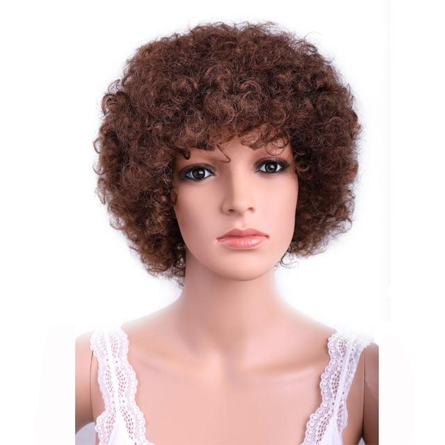 Sambraid Kanekalon  No Lace Front Synthetic Wigs Low Temperature Future Light Soft Fiber For Black Women Bounce Curl Wig