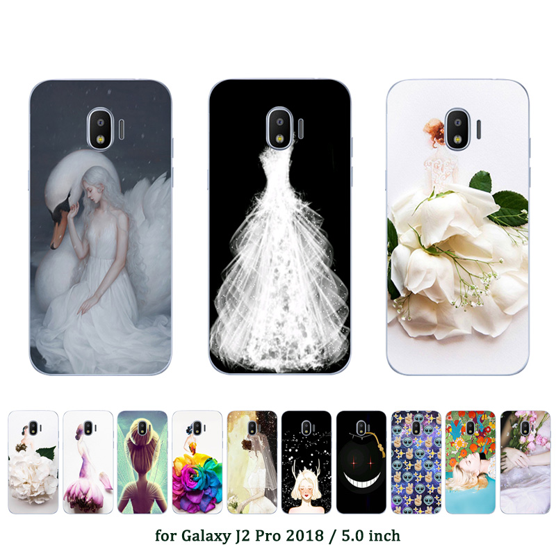 Luxury TPU Phone Cases for <font><b>Galaxy</b></font> <font><b>J2</b></font> Pro <font><b>2018</b></font> Ultrathin Slicone Marriage Printed for Fundas <font><b>Samsung</b></font> <font><b>Galaxy</b></font> <font><b>SM</b></font>-<font><b>J250F</b></font> Covers image