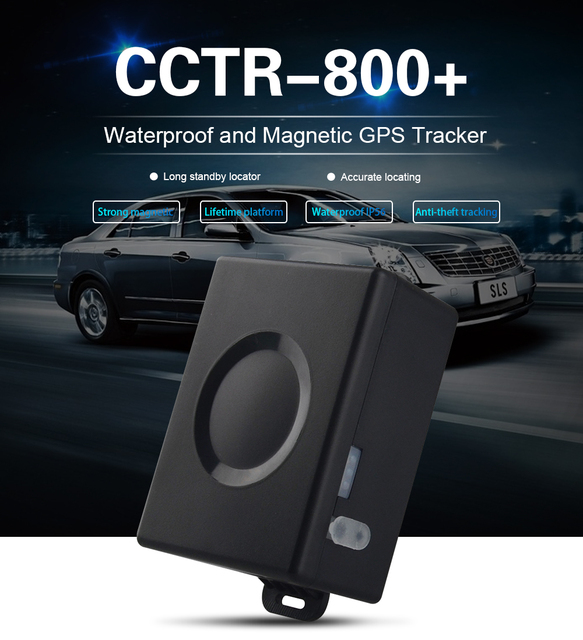 Cctr800 Plus Personal Vehicle Car Gps Tracker With Magnetic Long Life Battery 5200mah Oversd Shake Alarm History Records