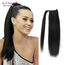 Remy Human Hair Ponytail Extensions Virgin Human Hair Ponytail Straight Human Ponytail Hairpieces Clip in Human Hair Extensions