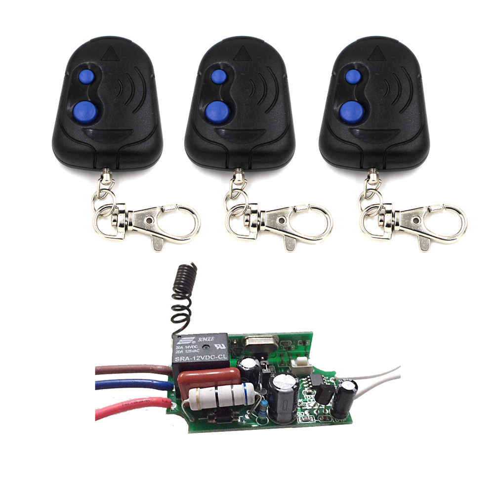 New 220V AC Receiver Transmitter Light Lamp LED Remote Control Switch Power Wireless ON OFF Key Switch Lock Unlock 315/433MHZ