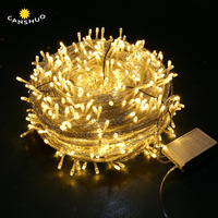 Christmas Fariy led String Lights 100m 600leds 50m 400leds 8 modes waterproof garland for Xmas Wedding Party Outdoor Decorative