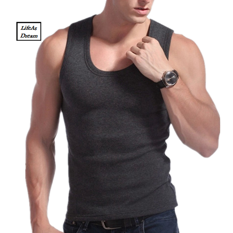 Hot Clothing Casual Gilet Men O-Neck Tank Tops Winter Male Sleeveless Vest Thermal Underwear Thick Plus