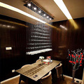 Free Shipping Simple Fashion Modern LED Crystal Pendant Lights Dining Room Pendant Lamp Customizable
