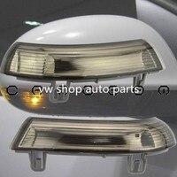 For VW Passat B6 JETTA V GOLF 5 EOS Side Mirror Turn Signal Smoked Lens Amber