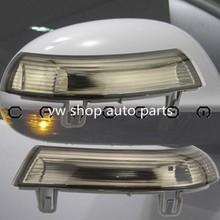 цена на For VW Passat B6 JETTA V GOLF 5 EOS Side Mirror Turn Signal Smoked Lens Amber Indicator Light 1K0949102/1K0949101 smoked color