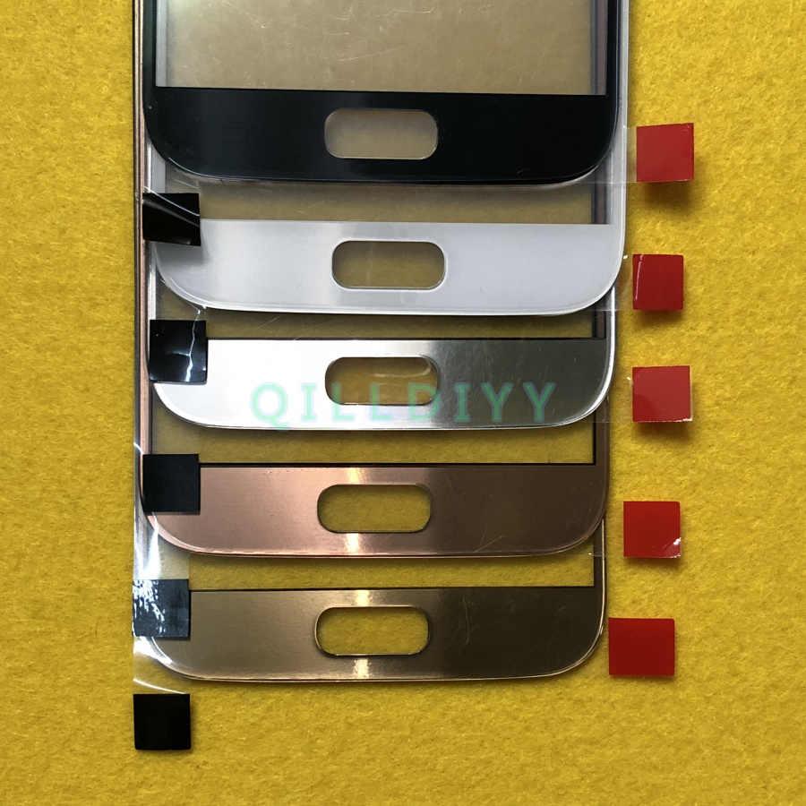 מקורי חיצוני LCD מסך קדמי זכוכית עדשת כיסוי עבור Samsung Galaxy S7 G930 G930F מגע מסך