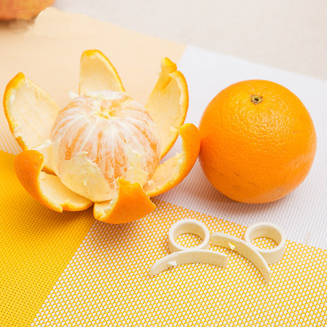 1 orange peeler finger lemon grape fruit slicer plastic stripper kitchen cooking accessories fruit vegetables tool kitchen tools