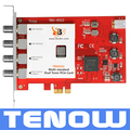 TBS6522 Multi Standard Dual Tuner PCI-e Card Supporting DVB-S2X/S2/S/T2/T/C2/C/ISDB-T FTA TV Receiving and Recording