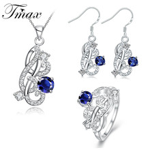 Pendant Necklaces Earrings Ring Jewelry Sets Flower Pattern Hot Sale Classic Hollow Fashion Accessories Wedding Zircon HFNE0448