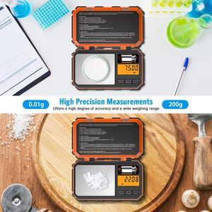 Image 2 - Digital Pocket Küche Skala LED 200g/0,01g Mini Tragbare Elektronische Waagen Essen Mess Küche Lebensmittel Skala Gewicht werkzeug