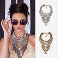 Vintage Ethnic Pendant Necklace bib statement collar Silver Color bib necklace Bohemia Luxury Charm JURAN Fashion Jewelry