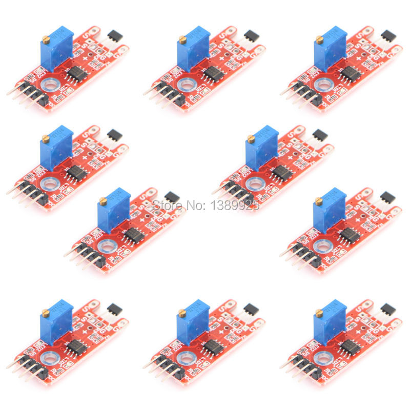 Factory Selling Free Shipping 100PCS/Lot Linear Magnetic Hall Sensor Module KY-024
