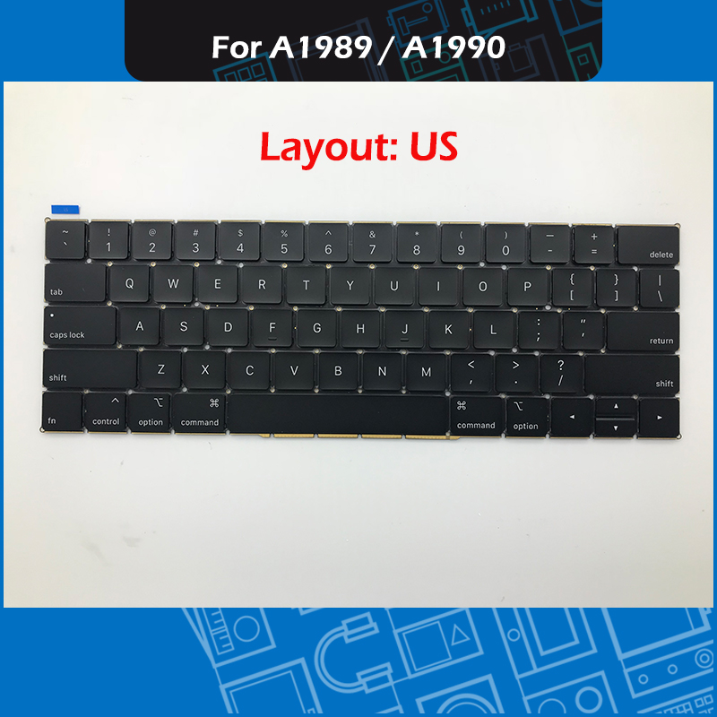 New A1990 A1989 Keyboard US Layout For Macbook Pro Retina 13 A1989 15 A1990 Keyboard Replacement