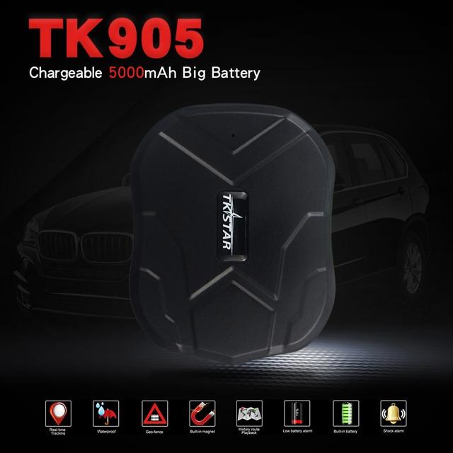 Shpping rápido TK905 Super Ímã 90 Dias de Espera Impermeável Rastreador GPS Do Carro Em Tempo Real de Rastreamento LBS Posição da Vida Livre Quente venda