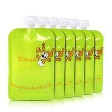 8 pçs/lote Reutilizável Food Bolsa Duplo Zíper Bolsas de Alimentos Do Bebê fácil de limpar Topper Organizador saco isolamento saco de armazenamento de alimentos Orgânicos