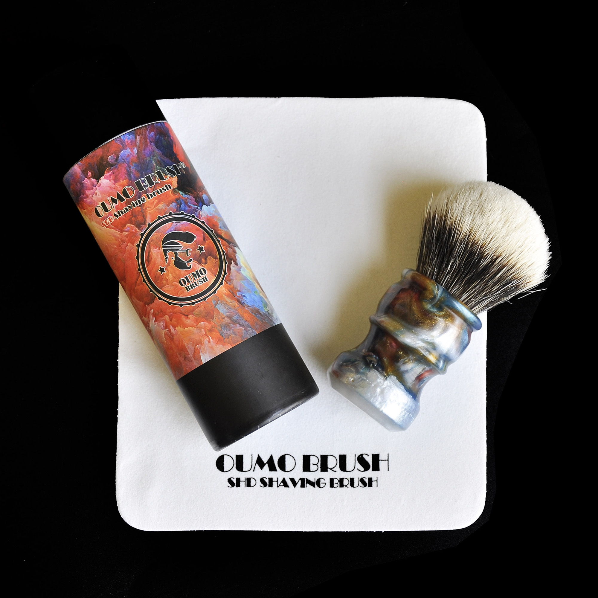Image 4 - OUMO BRUSH  2019/8/1 CHUBBY  Art shaving brush with SHD bulb Manchuria badger knot gel city 26MM-in Shaving Brush from Beauty & Health