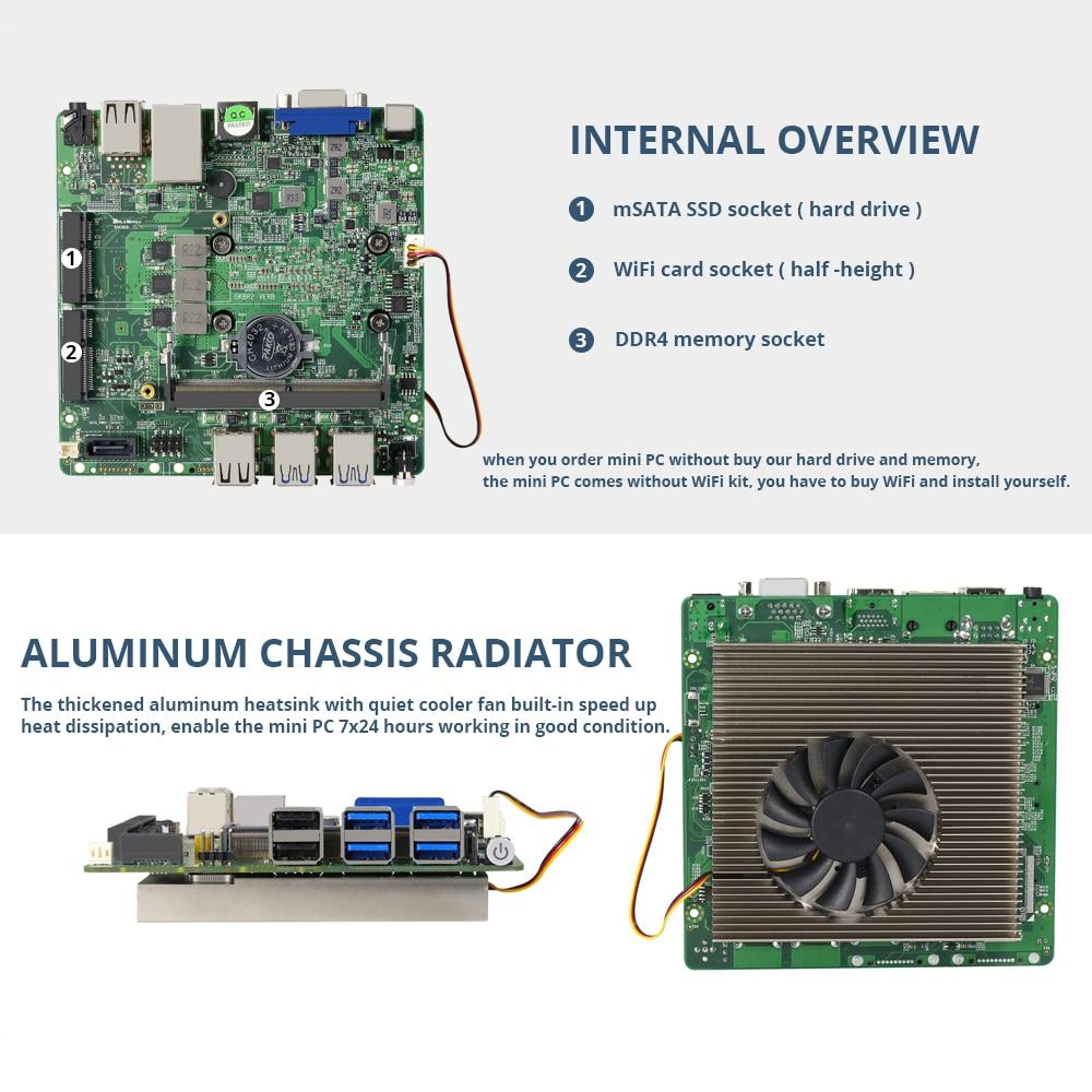Image 5 - Intel Core i3 8130U i5 8250U i7 8550U Mini PC Windows 10 DDR4 8xUSB HDMI VGA 300M WiFi Gigabit Ethernet 4K HTPC-in Mini PC from Computer & Office