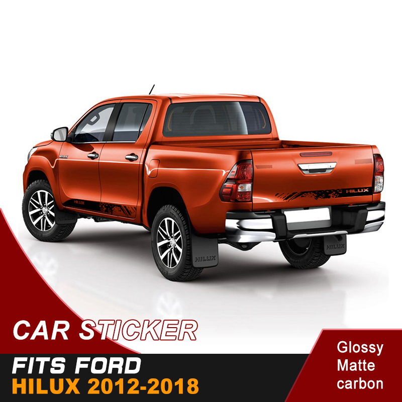 free shipping  mud car sticker 4x4 off road car stripe dirty shards decal for toyota hilux 2012-2018 revo rocco diff drop kit for hilux