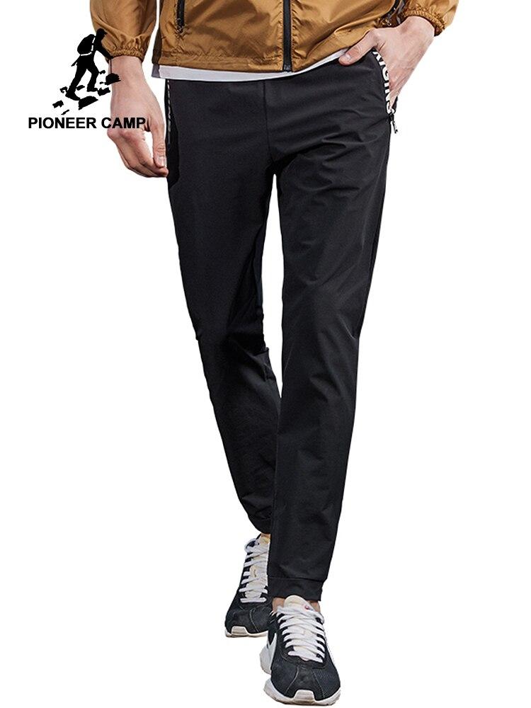 Пионерский лагерь тонкие летние повседневные штаны Мужская брендовая одежда Черный slim fit бегунов мужской высокое качество дышащие брюки ...
