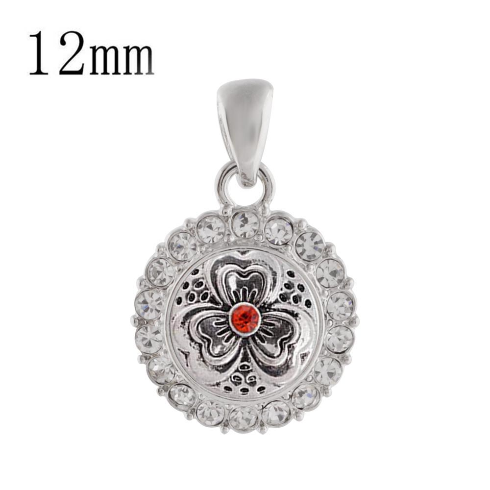 Partnerbeads New Arrival Bohemia Snap Button Pendant of Necklace for Women Snaps Jewelry 12mm Mini Charm for DIY Choker KS0338-S image