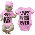 Fashion Newborn Baby girl bodysuit Cotton Letters prints Short Sleeve Pink Bodysuits Jumpsuit Cover button baby girl clothes Y1