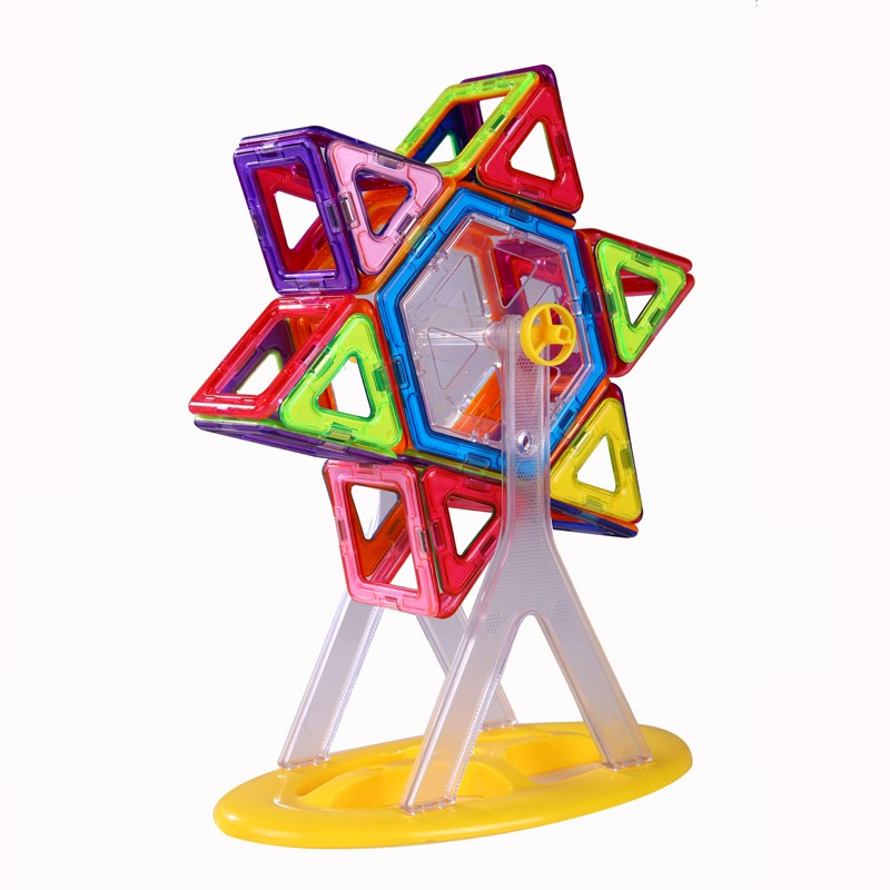 74pcs-Ferris-Wheel-And-Car-Set-Similar-Magformers-Strong-Magnetic-Building-Toys-More-Blocks-ABS-Plastic