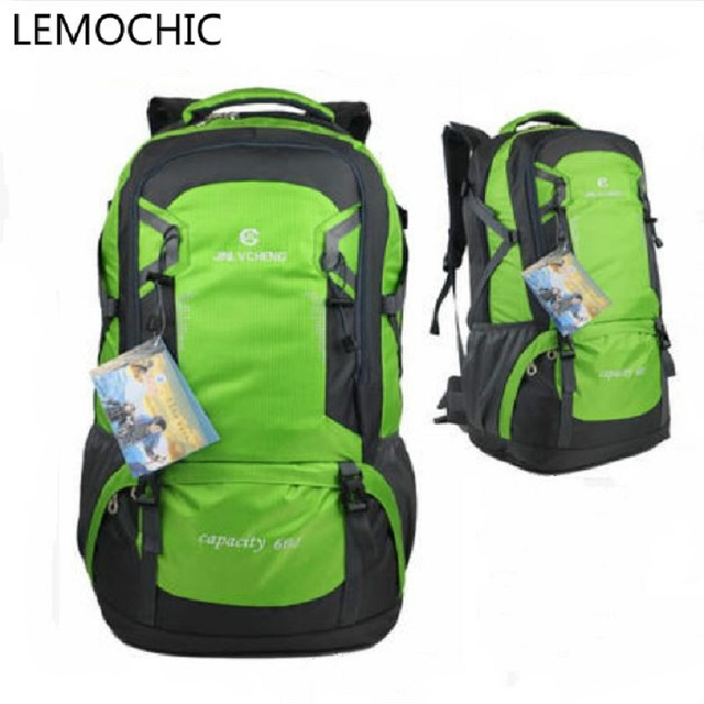 55f0a3f52a3d LEMOCHIC 60L outdoor travel mountaineering bag men women large capacity  waterproof backpack Sports bag Sightseeing camping hike