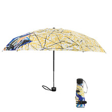 2019 Hot Sale Pocket Mini Umbrella Anti UV Paraguas Sun Rain Windproof Light Folding Portable Umbrellas for Women Men
