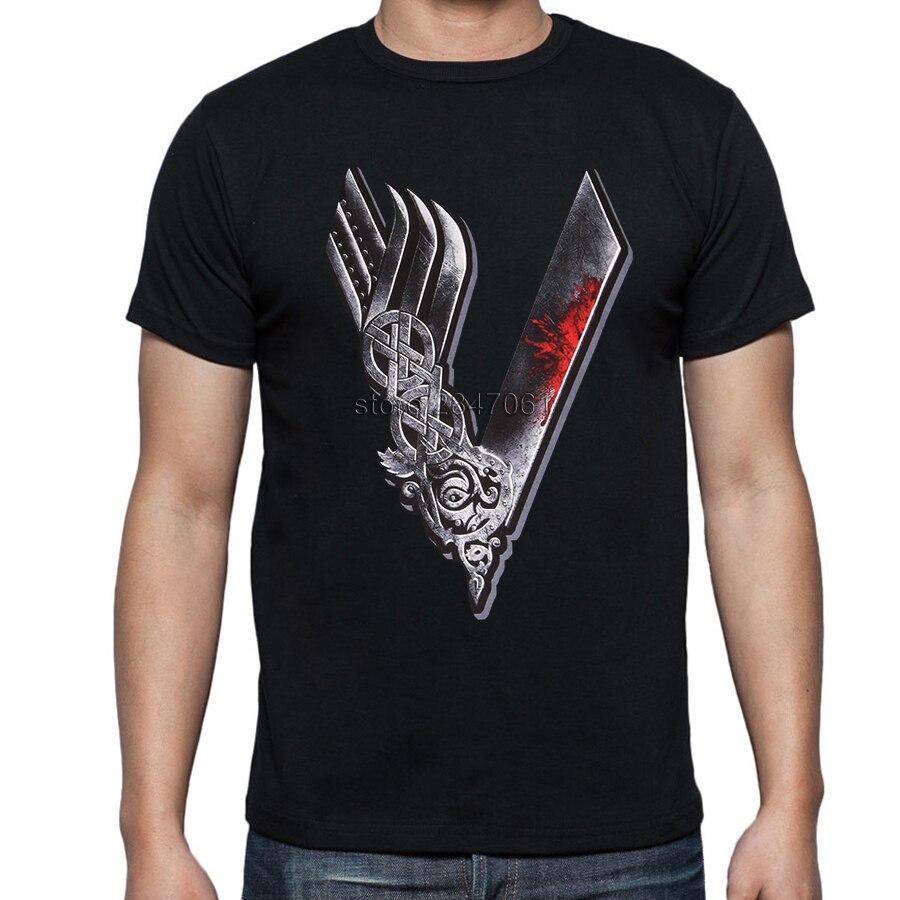 Shirt design price - Vikings Valhalla Odin T Shirts Men Custom Designer Short Sleeve Cotton Male Summer Cheap Price Viking