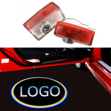 ECAHAYAKU 2pcs Car Welcome Light Door LED Ghost Shadow Projector Laser car-styling For Audi BENZ TOYOTA BMW LOGO accessories