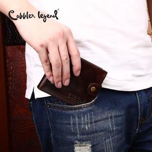 Image 5 - Cobbler 전설 검은 암소 정품 가죽 남성 지갑 짧은 100% 최고 품질 패션 고품질 동전 지갑 2019 원래 브랜드