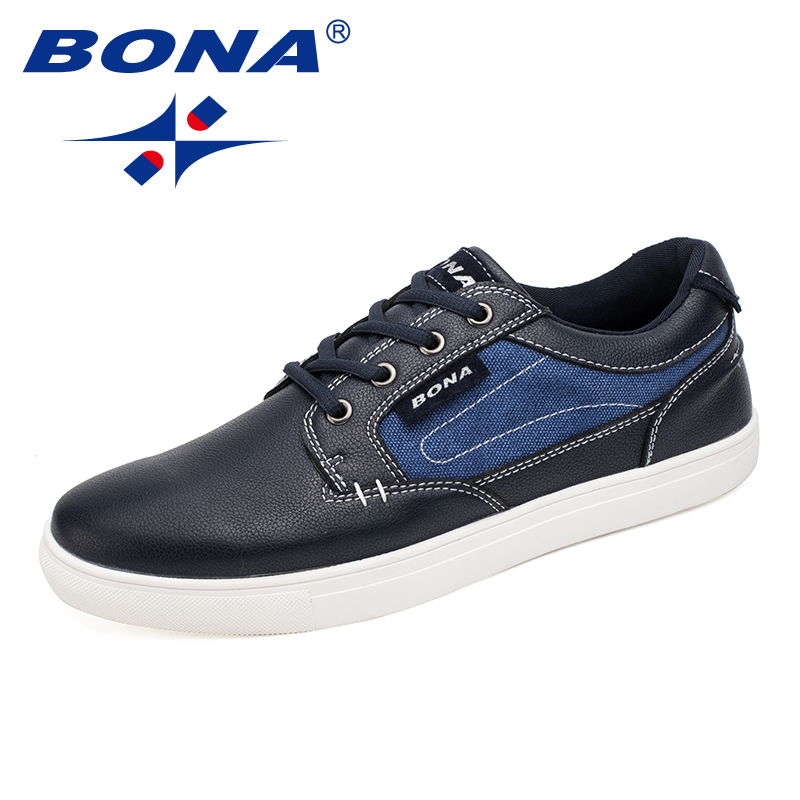 BONA New Fashion Style Men Casual shoes Lace Up Men Shoes  Canvas Loafers Men Comfortable Free Shipping