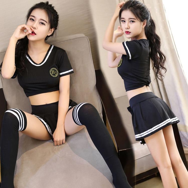 Popular football baby skirt filar socks black temptation Cosplay Costumes School Sexy uniform suit for women Cheerleader costume