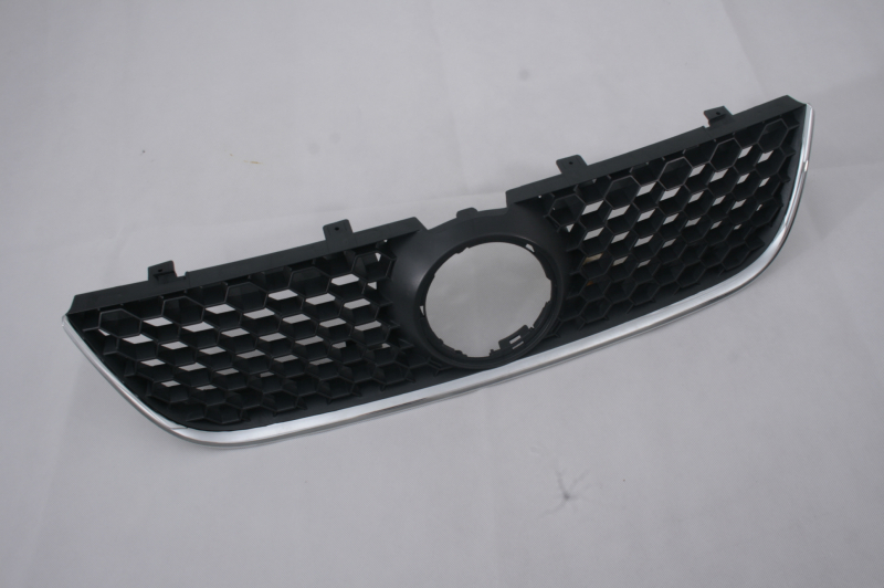 Replacement Sporty Honeycomb Front Center Grille With Chrome GTI Edge For VW Volkswagen Polo 9N3