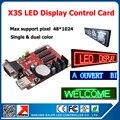 Бесплатная доставка программируемый прокрутка сообщение из светодиодов дисплей контрольную карту X3S из светодиодов для одного цвета и триколор из светодиодов вывески