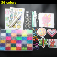 5mm 36 Colors 10000pcs Hama Beads Pegboard Set Toy DIY Puzzle Hama Beads Template Tangram Jigsaw Board Kids Toys