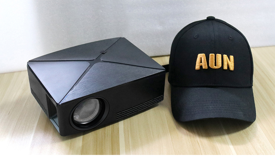 AUN C80/C80UP Android WIFI Mini Projector With 1280x720 Pixels Resolution and 3D Beamer 25