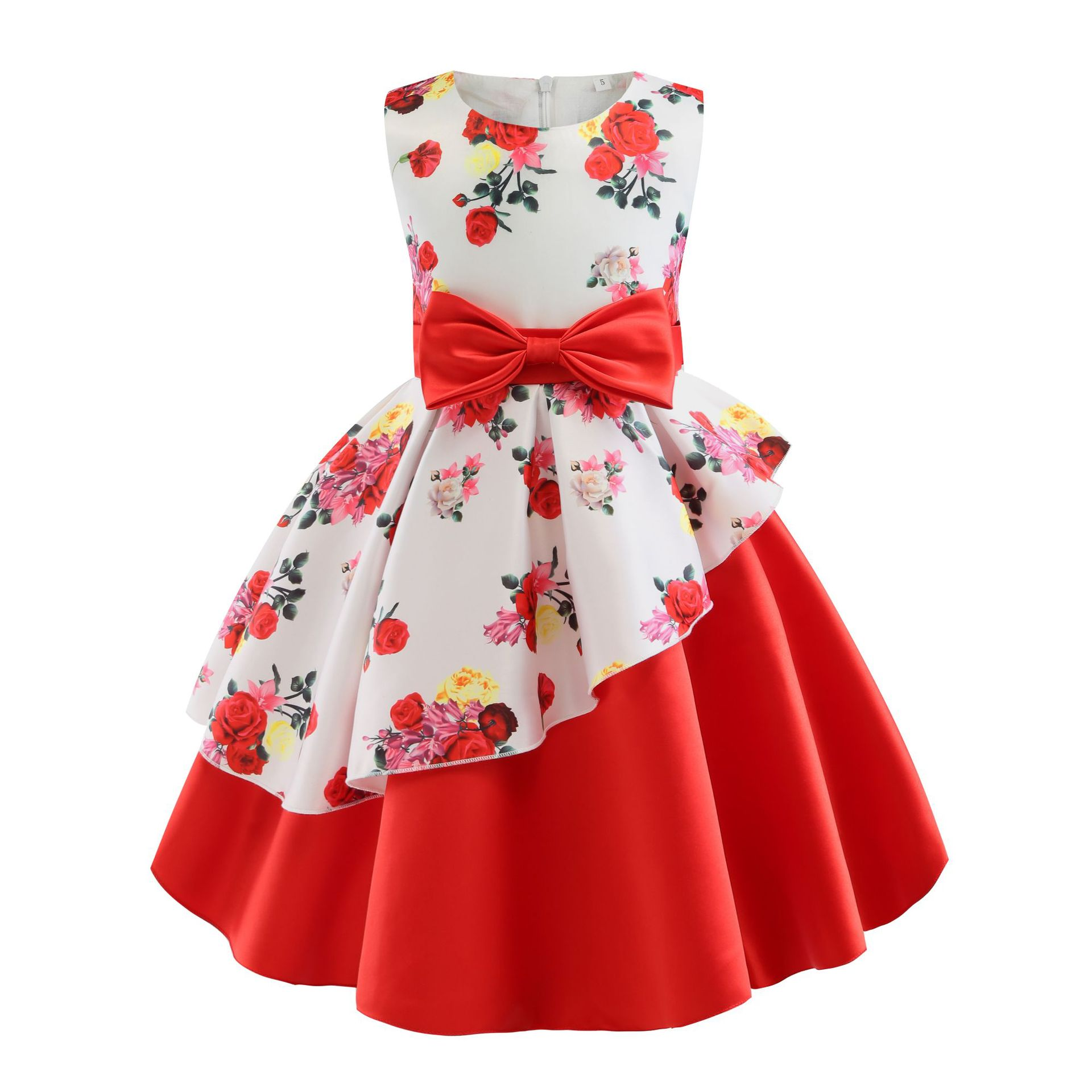 ALI shop ...  ... 32920065740 ... 5 ... 2018 New Summer Girls Birthday Wedding Party Princess Dresses Kids Printing Dress Girl Christmas Prom Dress 2-9 years old ...
