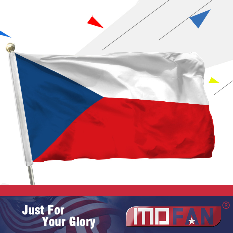 MOFAN 3x5 Foot Czech flag Polyester - Canvas Header and Double - Hiasan rumah